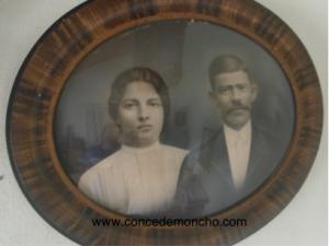 Figura 1. Perfecta Alpízar y Manuel Quesada Bastos en el día de su boda en 1912 (Quesada Alpízar 2015b).