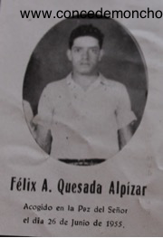 Figura 3. Recordatorio póstumo de Felix A. Quesada Alpízar (Quesada Alpízar 2015).