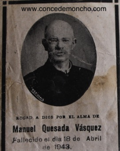 Figura 7. Recuerdo funerario de Manuel Quesada Bastos (Quesada Alpízar 2015).