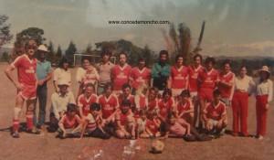 Equipo de fútbol Las Cruzadas en San Roque de Naranjo en 1984. Anteriormente tuvieron varios nombres: La Vaca Flaca, El Atún y los Tigres. Era la repela de Concepción entre 1978 y 1990.