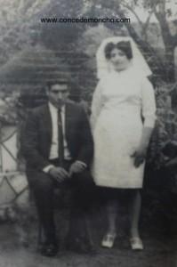 Matrimonio de Isabel Quesada Ramírez y Antonio Araya. Principios de la década de 1970.